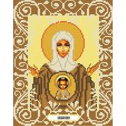 """Канва/ткань с нанесенным рисунком Божья коровка """"Богородица Знамение"""""""