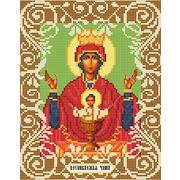 """Ткань с рисунком для вышивки бисером Божья коровка """"Богородица Неупеваемая Чаша"""""""