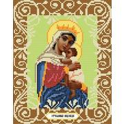 """Ткань с рисунком для вышивки бисером Божья коровка """"Богородица Отчаянных Единая Надежда"""""""