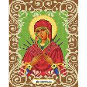 """Ткань с рисунком для вышивки бисером Божья коровка """"Богородица Семистрельная"""""""