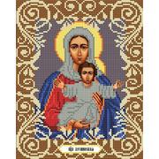 """Канва/ткань с нанесенным рисунком Божья коровка """"Богородица Леушинская"""""""