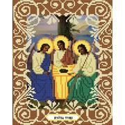 """Ткань с рисунком для вышивки бисером Божья коровка """"Святая Троица"""""""