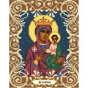 """Ткань с рисунком для вышивки бисером Божья коровка """"Богородица Юровичская"""""""