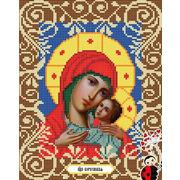 """Ткань с рисунком для вышивки бисером Божья коровка """"Богородица Корсунская"""""""