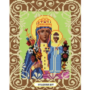"""Канва/ткань с нанесенным рисунком Божья коровка """"Богородица Неувядаемый Цвет"""""""