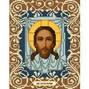 """Ткань с рисунком для вышивки бисером Божья коровка """"Спас Нерукотворный"""""""