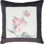 """Набор для вышивания крестом Luca-S подушка """"Цветок и бабочка"""""""
