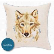 """Набор для вышивания крестом Luca-S подушка """"Волк"""""""