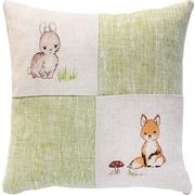 """Набор для вышивания крестом Luca-S подушка """"Зайчонок и лисичка"""""""