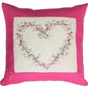 """Набор для вышивания крестом Luca-S подушка """"Сердце из роз"""""""