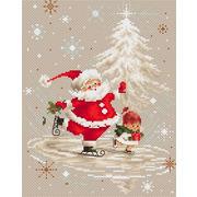 """Набор для вышивания крестом Luca-S """"Санта Клаус"""""""