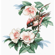 """Набор для вышивания крестом Luca-S """"Птичка в цветах"""""""