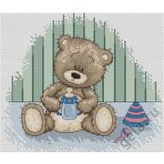 """Набор для вышивания крестом Luca-S """"Медвежонок Бруно"""""""