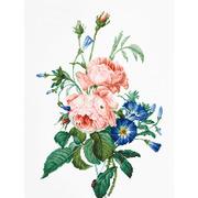 """Набор для вышивания крестом Luca-S """"Букет c розами"""""""