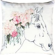 """Набор для вышивания крестом Luca-S подушка """"Лошадь в розах"""""""