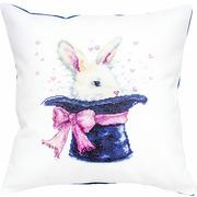 """Набор для вышивания крестом Luca-S подушка """"Кролик в шляпе"""""""