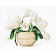 """Набор для вышивания крестом Luca-S """"Ваза с тюльпанами"""""""