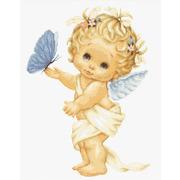 """Набор для вышивания крестом Luca-S """"Бабочка и ангел"""""""
