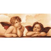 """Набор для вышивания крестом Luca-S """"Ангелочки"""""""