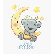 """Набор для вышивания крестом Luca-S """"Метрика, Лукас"""""""