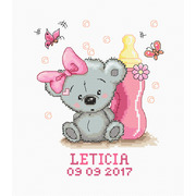 """Набор для вышивания крестом Luca-S """"Метрика, Летисия"""""""