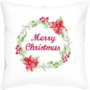 """Набор для вышивания крестом Luca-S подушки """"Рождественский венок"""""""