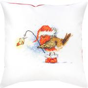 """Набор для вышивания крестом Luca-S подушка """"Птичка с лампой"""""""