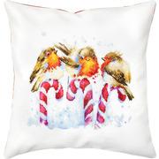 """Набор для вышивания крестом Luca-S подушки """"Птички"""""""