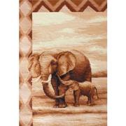 """Набор для вышивания крестом Luca-S """"Слоны"""""""