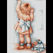 """Набор для вышивания крестом Luca-S """"Мамина помощница"""""""