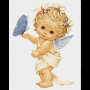"Гобелен Luca-S ""Ангелочек с бабочкой"""