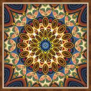 """Набор для выкладывания мозаики Алмазная живопись """"Мандала благополучия"""""""