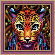 """Набор для выкладывания мозаики Алмазная живопись """"Радужный леопард"""""""