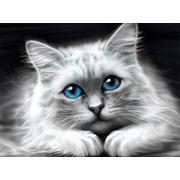 """Набор для выкладывания мозаики Алмазная живопись """"Голубоглазая кошка"""""""