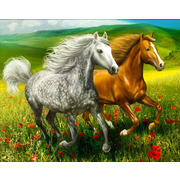 """Набор для выкладывания мозаики Алмазная живопись """"Кони на лугу"""""""