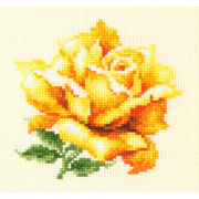 """Набор для вышивания крестом Чудесная игла """"Желтая роза"""""""