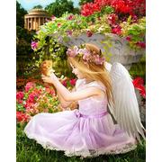 """Набор для выкладывания мозаики Алмазная живопись """"Ангел в саду"""""""