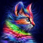 """Набор для выкладывания мозаики Алмазная живопись """"Разноцветный котенок"""""""
