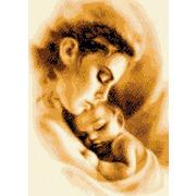 """Набор для вышивания крестом Каролинка """"Мать и ребенок"""""""
