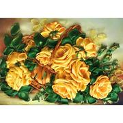 """Набор для вышивания лентами Каролинка """"Желтые розы"""""""
