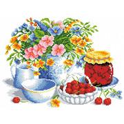 """Канва/ткань с нанесенным рисунком Каролинка """"Вишневое варенье"""""""