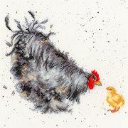 """Набор для вышивания крестом Bothy Threads """"Курица с цыплёнком"""""""