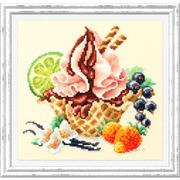 """Набор для вышивания крестом Чудесная игла """"Ванильное мороженное"""""""