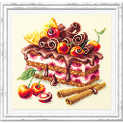 """Набор для вышивания крестом Чудесная игла """"Вишнёвый торт"""""""