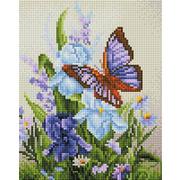 """Набор для выкладывания мозаики Белоснежка """"Бабочка на ирисах"""""""