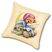 """Набор для вышивания крестом Белоснежка подушки """"Два медвежонка"""""""