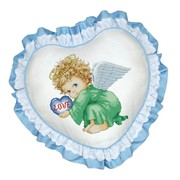 """Набор для вышивания крестом Белоснежка подушки """"Милый ангел"""""""