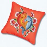 """Набор для вышивания крестом Белоснежка подушки """"Цветные рыбы"""""""