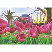"""Набор для вышивания бисером Каролинка """"Тюльпаны у мечети Айя-Софии"""""""