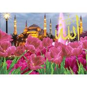 """Набор для вышивания бисером Каролинка """"Тюльпаны у голубой мечети"""""""